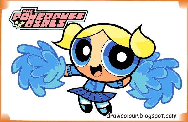 Powerpuff Girls Bubbles Cute Coloring Pages | Art Paper
