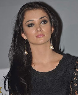 Bollywood Actress and Model Amy Jackson Hot in Black Dress