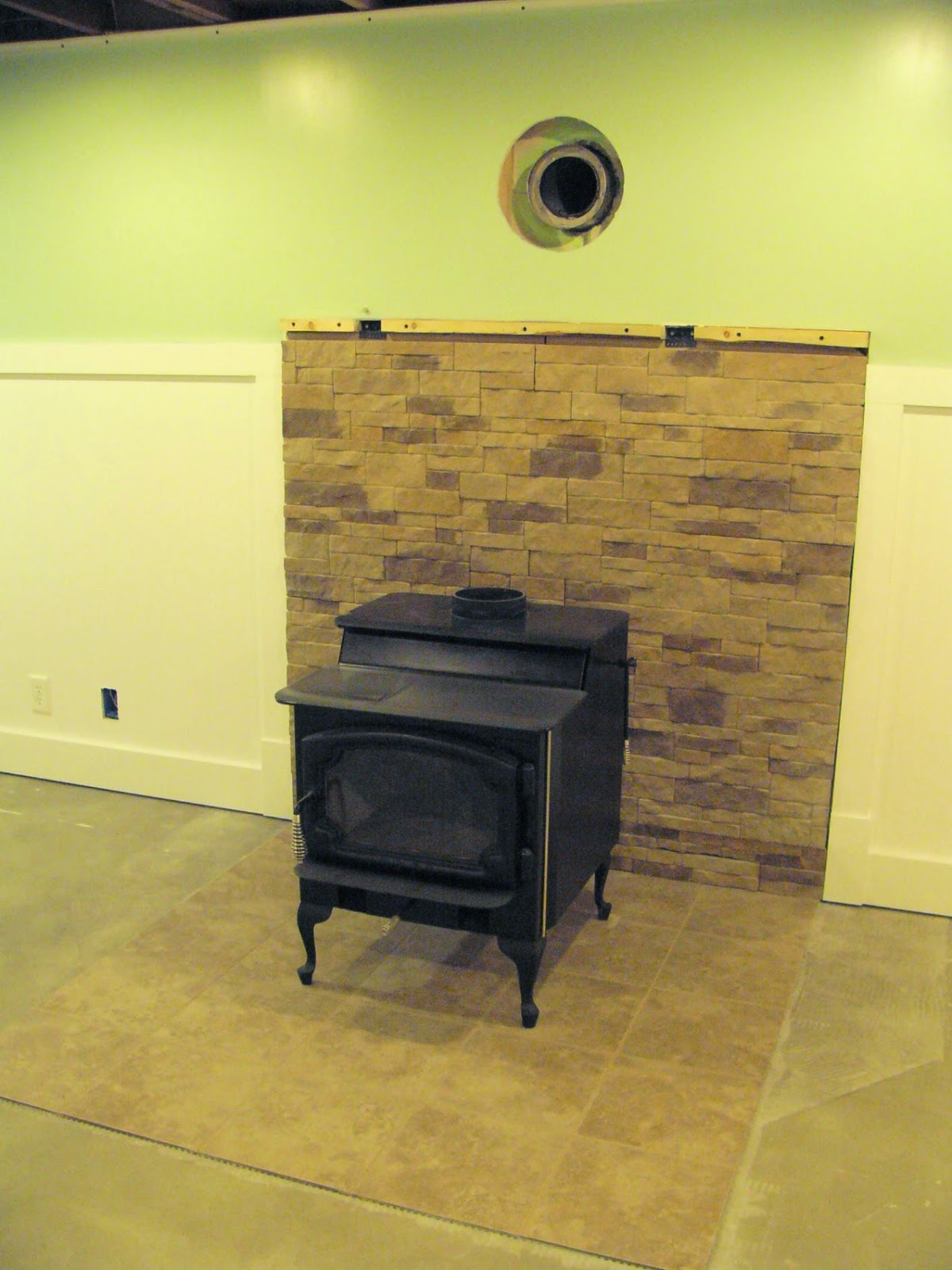 very dull indeed basement remodel project wood burner surround