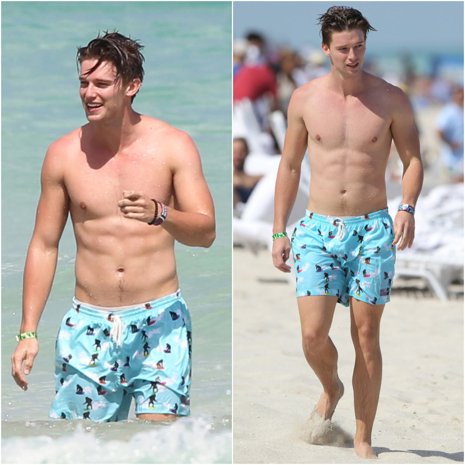00O00 Menswear Blog Patrick Schwarzenegger's Ambsn swim shorts - Miami beach vacation March 2013