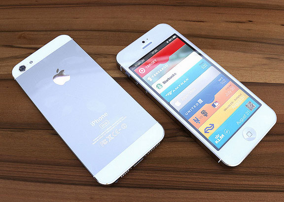 White iPhone 5 with 16:9 4-inch screens