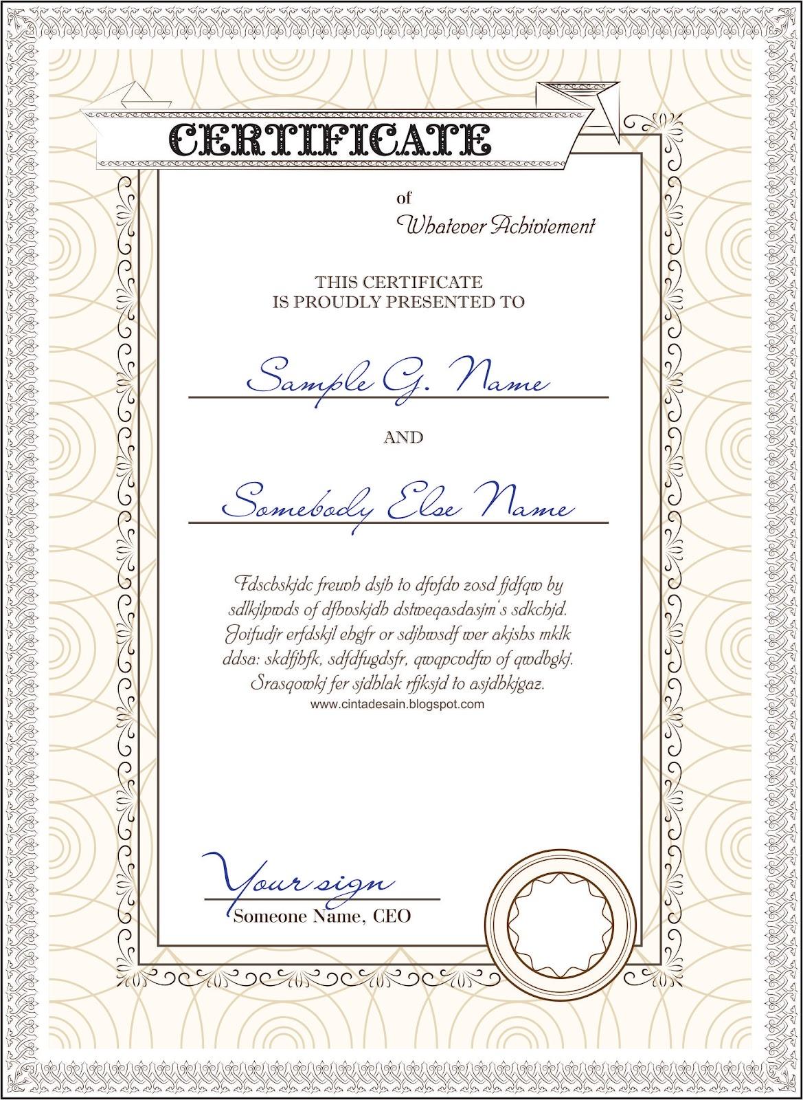 download template sertifikat format coreldraw wwwdiatiduscodendaevaml