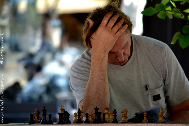 Man Playing Chess Learning Photography Blog People