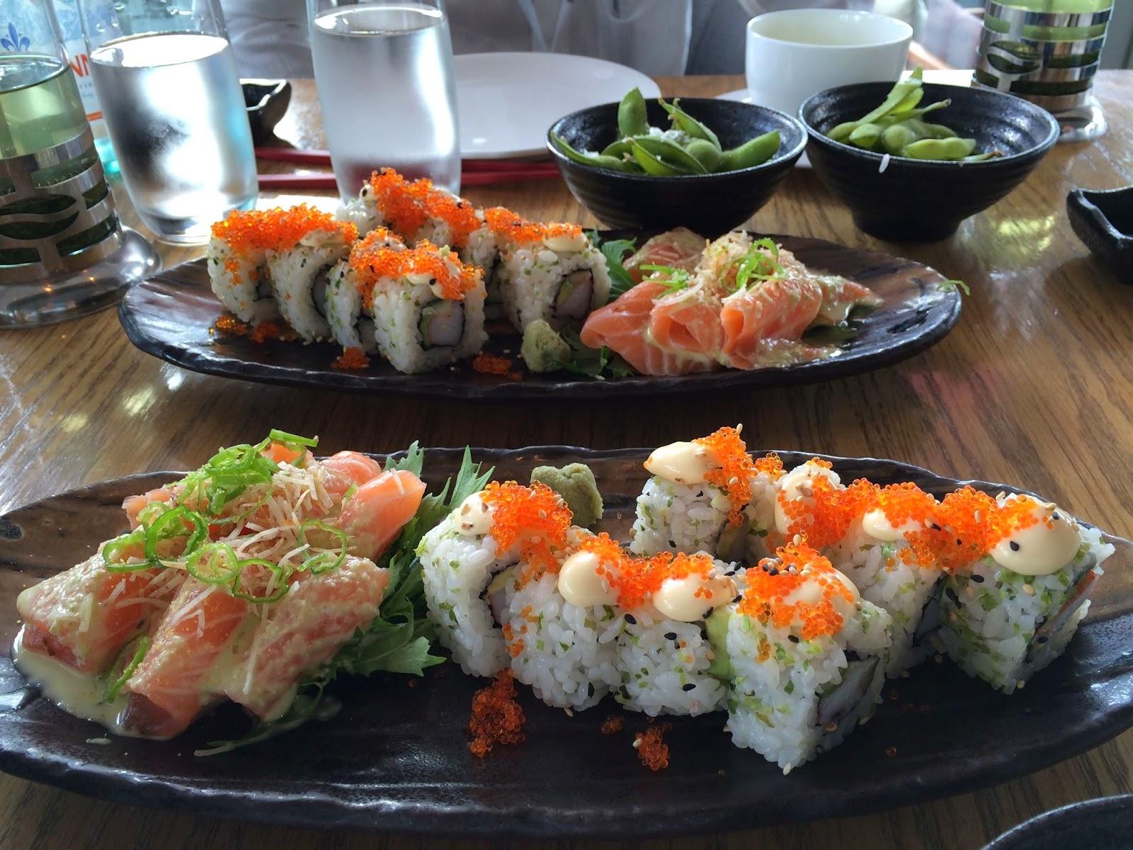 Sushi, sashimi and edamame at Ku De Ta, Marina Bay Sands Singapore