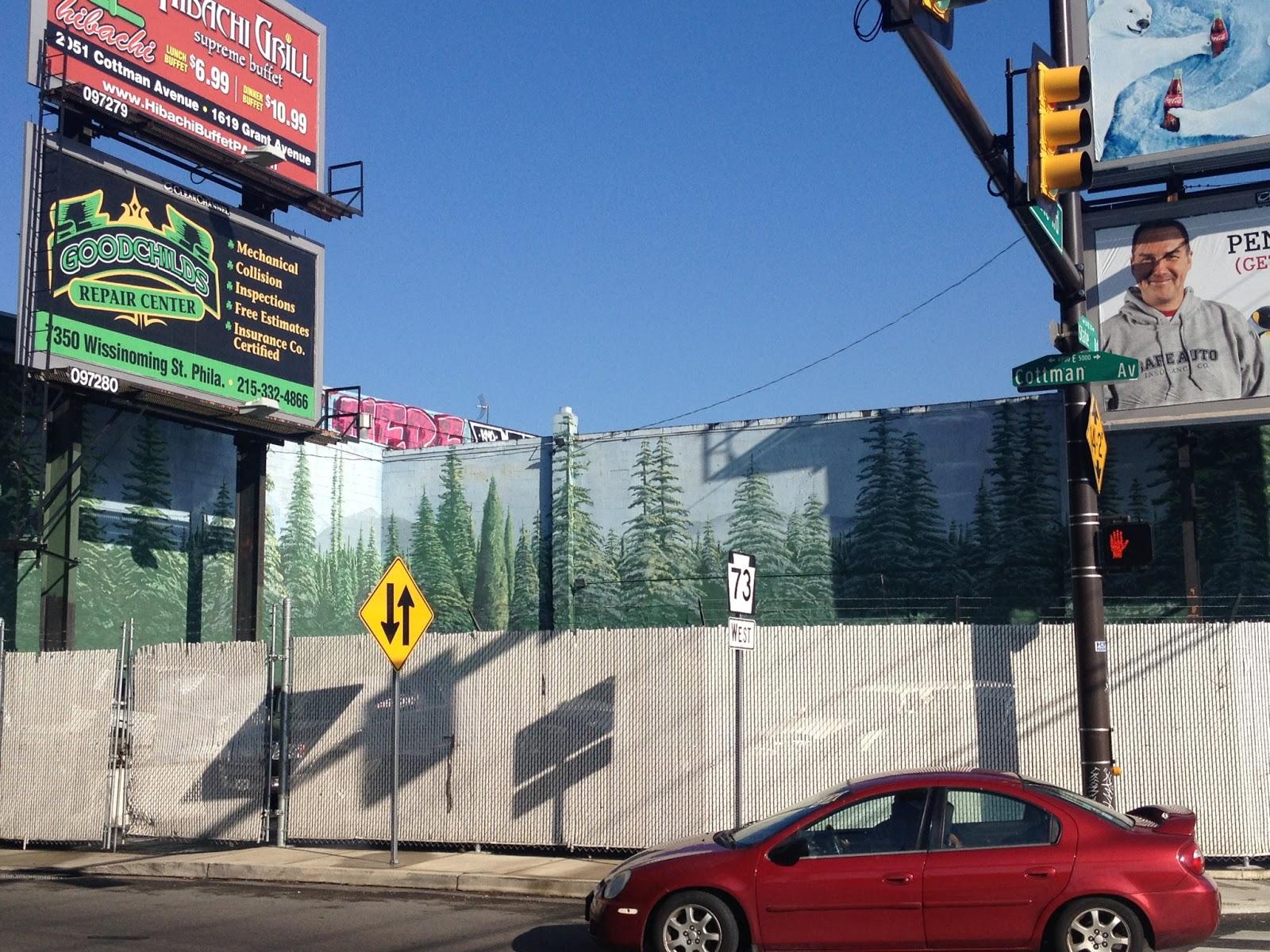 Philly trees spruce for Dr j mural philadelphia