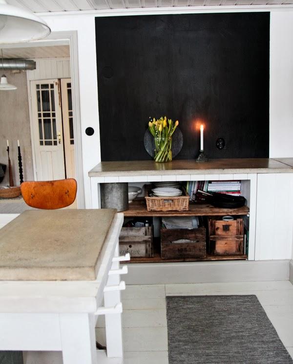 Vivre shabby chic vintage house l 39 abitazione industrial - Parete lavagna cucina ...