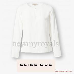 Crown Princess Mary wore ELISE GUG Silk Blouse
