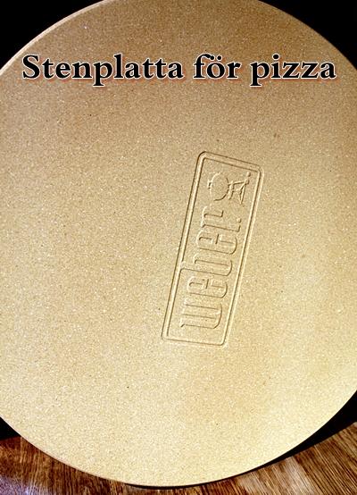 Pizzasten för att göra pizza på grillen