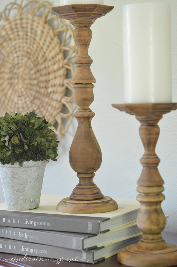 DIY Rustic Wood Candlesticks   | www.andersonandgrant.com