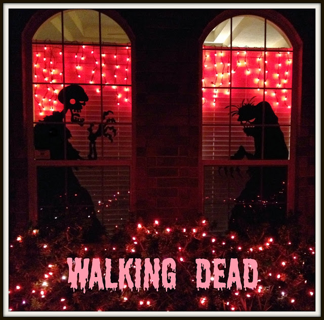 Zombies, Halloween Window Art, Walking Dead, Halloween Yard Art
