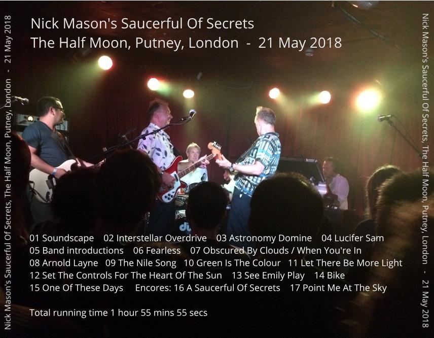 TUBE Nick Masons Saucerful Of Secrets