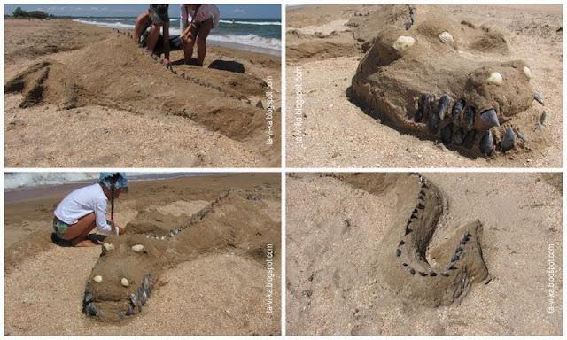 как сделать дракона из песка
