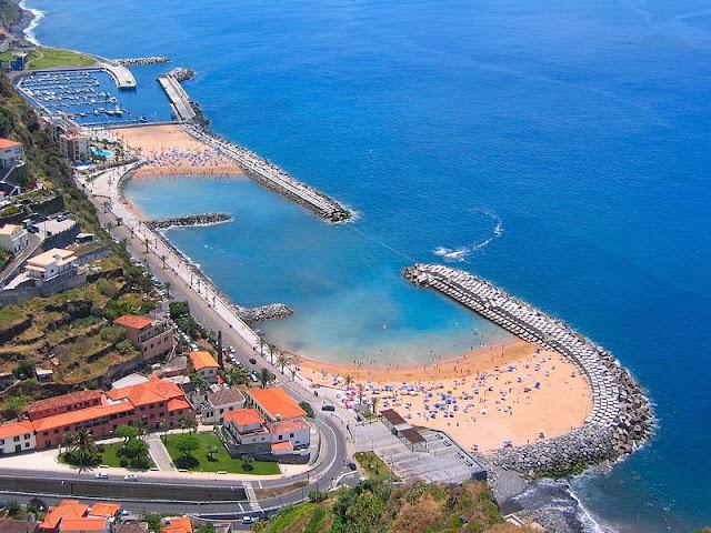 The manufactured Beach of Calheta | Madeira Island (Portugal)