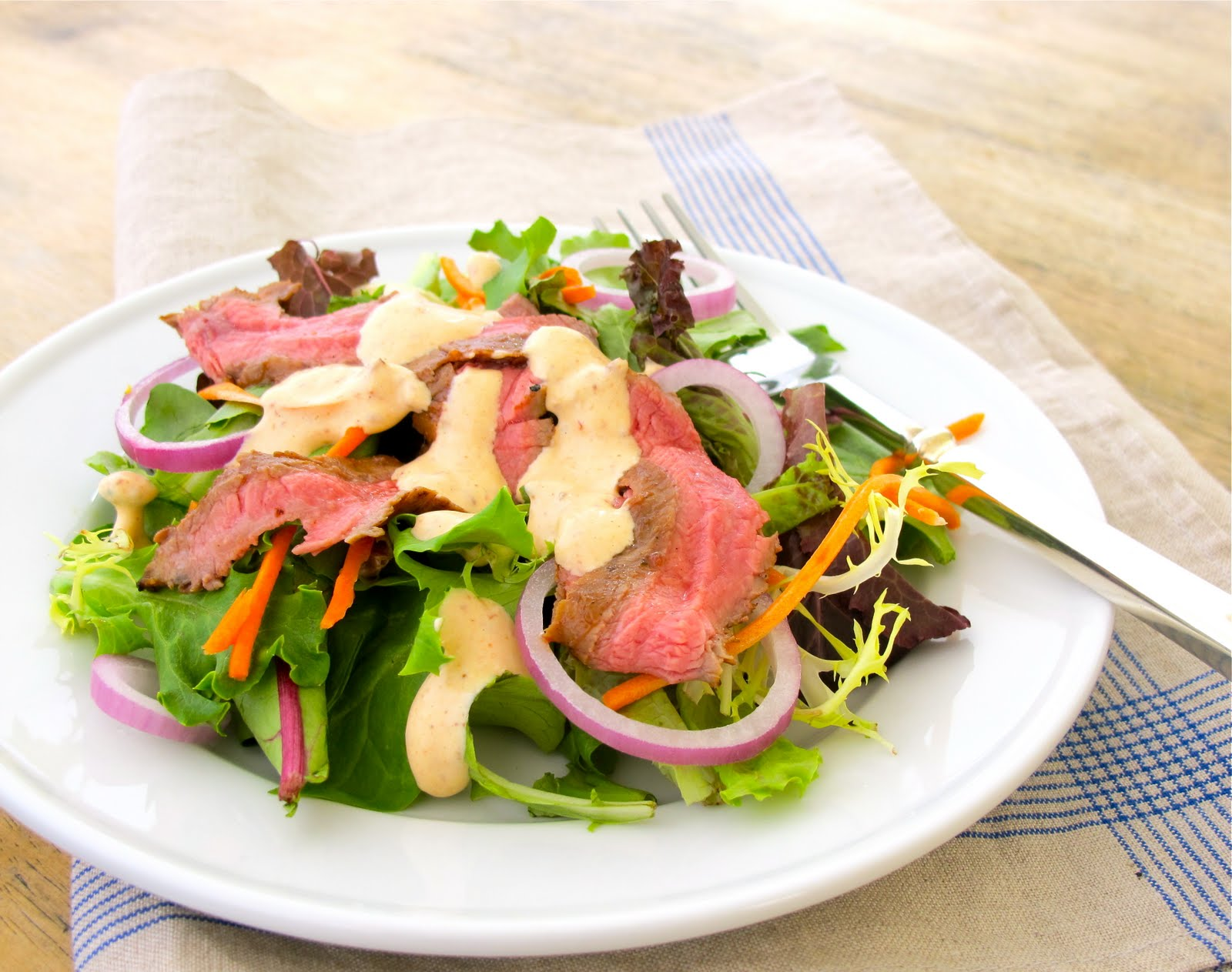 Summer Entertaining | Chipotle Steak Salad, Heirloom Tomato Grilled ...
