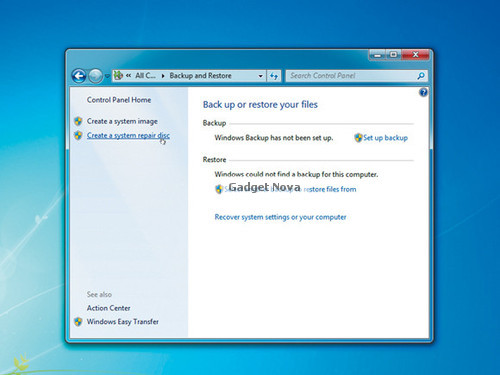 how to create windows 7 repair disk iso