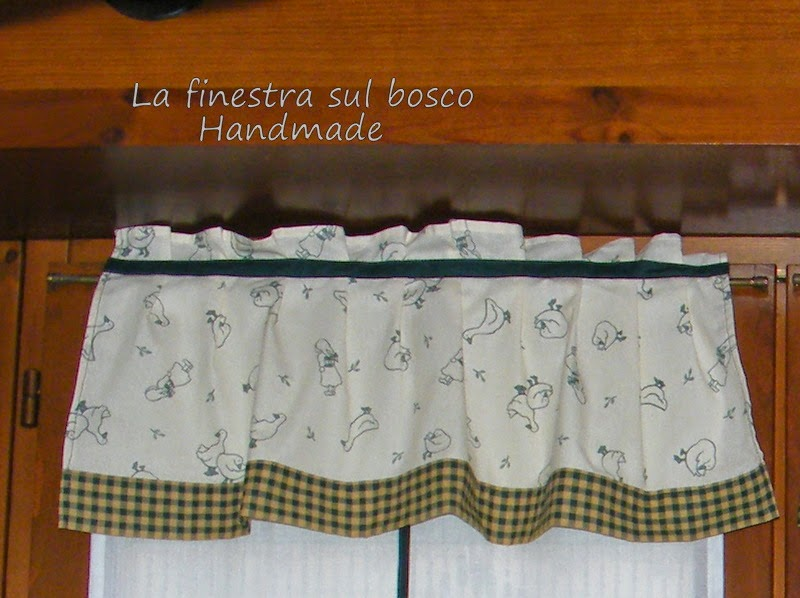 La finestra sul bosco Handmade: Tende country fai da te ...
