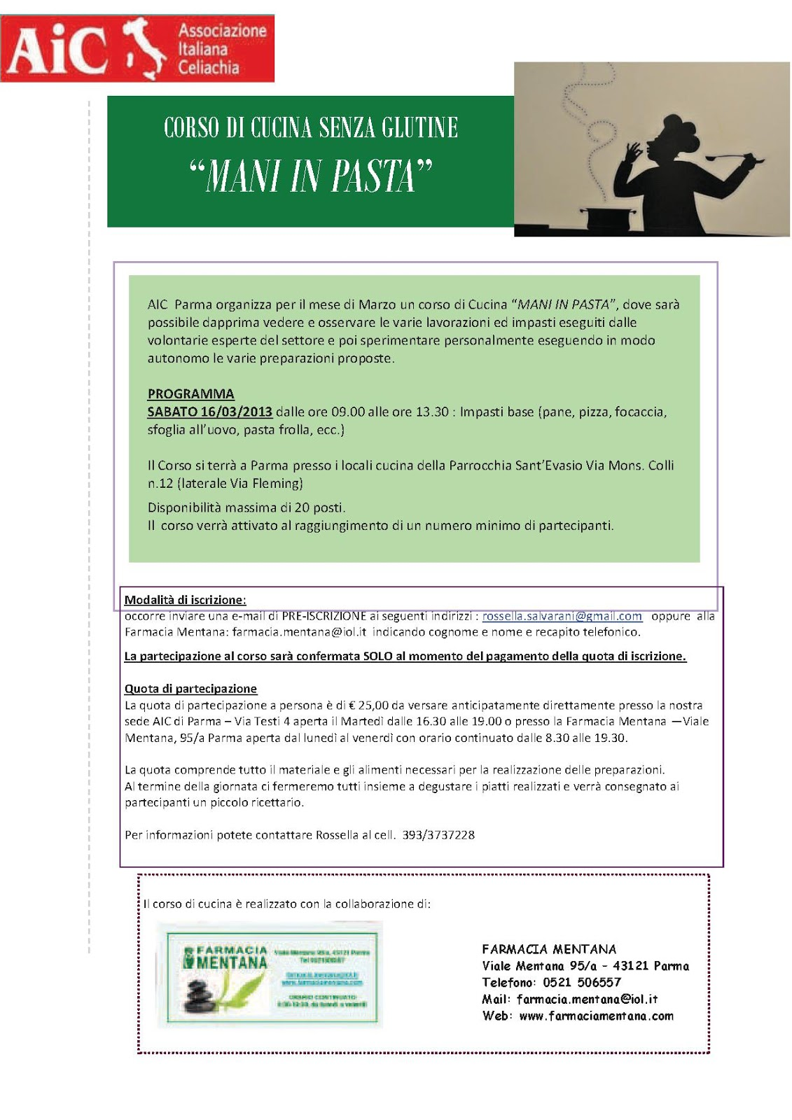 celiachia a parma - Corsi Cucina Parma