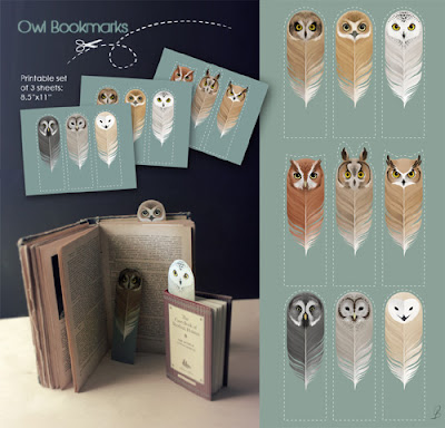 freebie owl bookmarks from My Owl Barn Blog, free printables