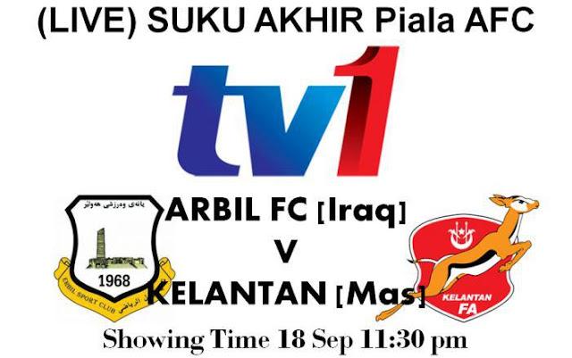 Keputusan Perlawanan Arbil FC vs Kelantan 18 September 2012