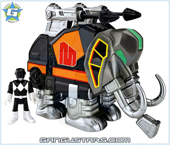 Imaginext Mighty Morphin Power Rangers Zords Assortment Black Ranger DinoZord イマジネックスト ジュウレンジャー 戦隊