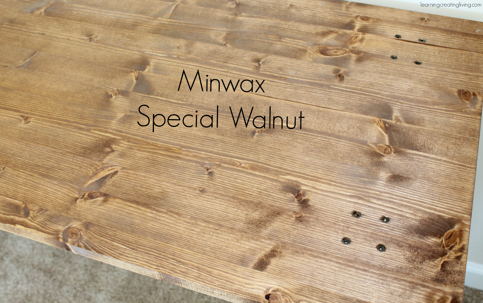 Special Walnut Stain On Pine Used minwax special walnut