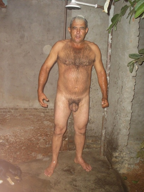 Naked Hairy Dad