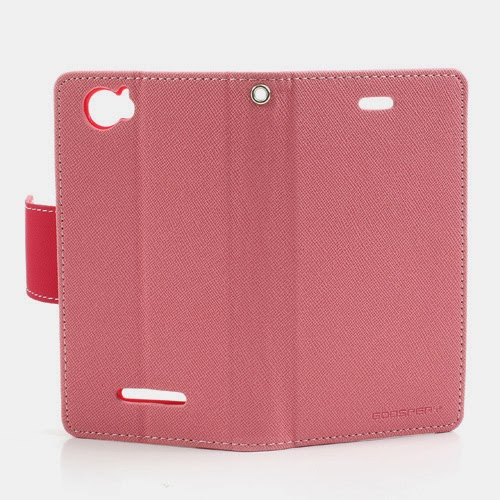 ... Diary Leather Case for Sony Xperia M C1904 C1905 C2004 C2005 - Pink