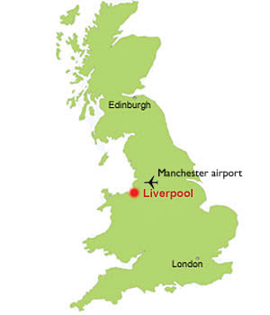 Liverpool Map Of England