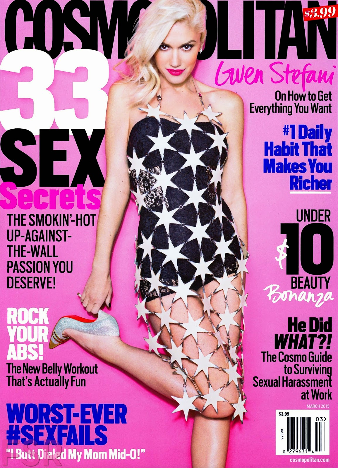 Singer , Songwriter , Fashion Designer , Actress: Gwen Stefani for Cosmopolitan US