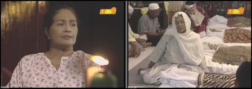 antara babak paling tragik dalam telemovie daun ketupat kering lakonan