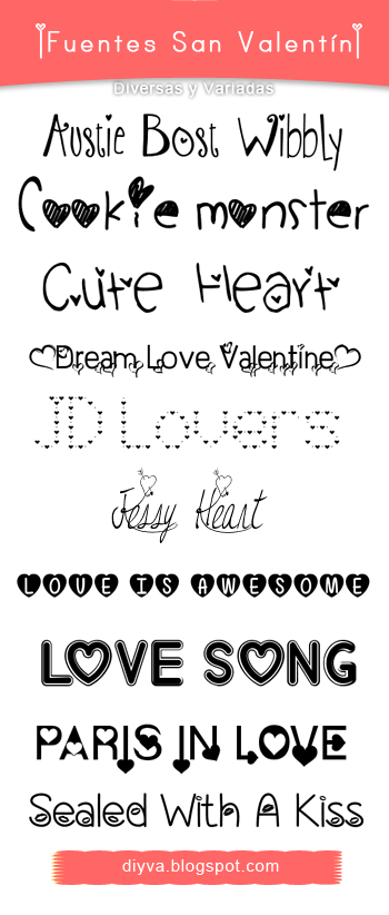 Valentines, Day, Fonts