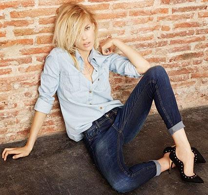 jeans & denim Suiteblanco coleção mulher