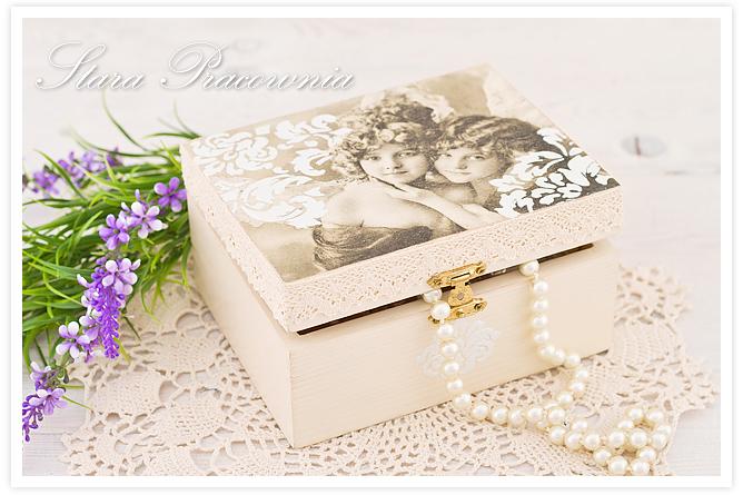 pudełko decoupage, shabby chic, pudełko w stylu retro, postarzanie przedmiotów decoupage, zdobienie pudełka techniką decoupage, decu