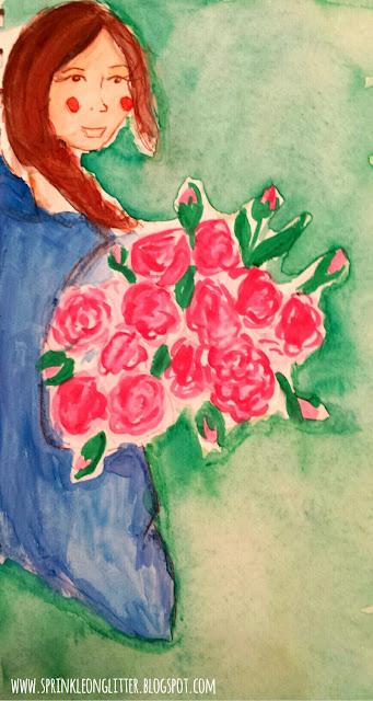 Flower Market- watercolor- write 31 days