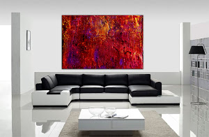 "Abstract Painting ""Temptations"" by Dora Woodrum"