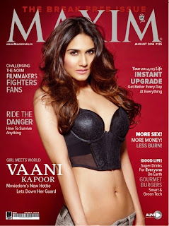 Vaani Kapoor in lovely Corsett Cover Page of Maxim India Magazine August 2014 issue