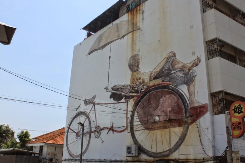 Penang street art - Trishaw man - Ernest Zacharevic