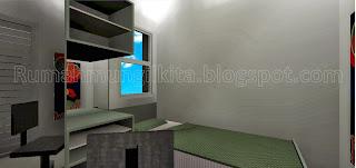 kamar tidur anak mungil minimalis