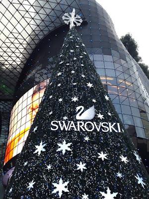 Swarovski Christmas Tree in Orchard Road