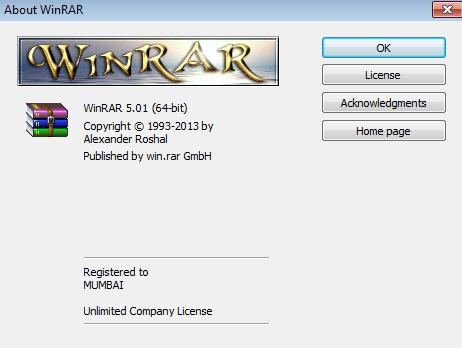 WinRAR v5.01