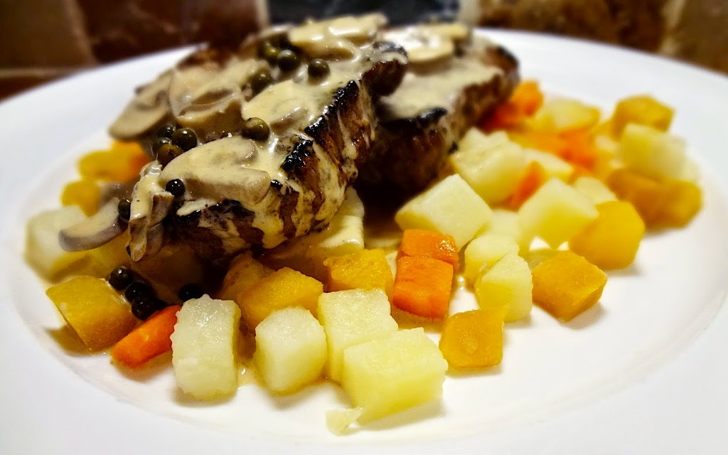 Beef Medallions & Root Cubes