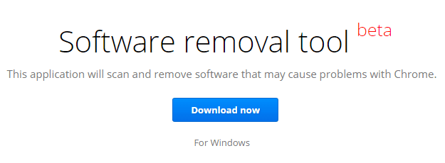 Software removal tool, Google software removal tool