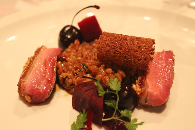Duck breast and farro at Menton