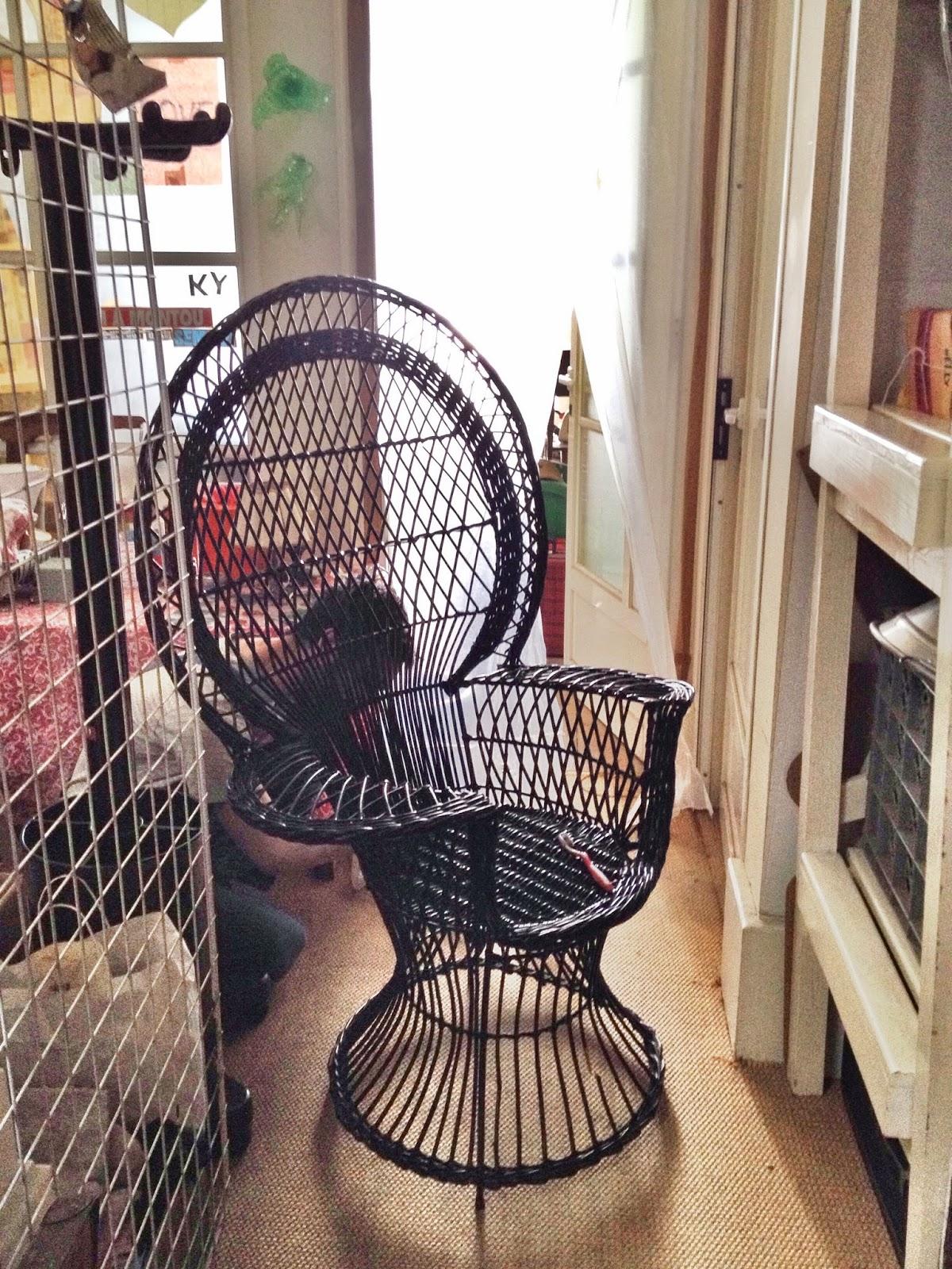vintage chair, vintage furniture, emmanuelle chair