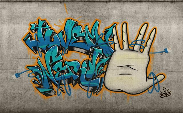 graffiti jovem nerd