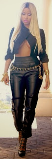Can You Rock an Unbottoned Leather Jacket Like Nicky Minaj.