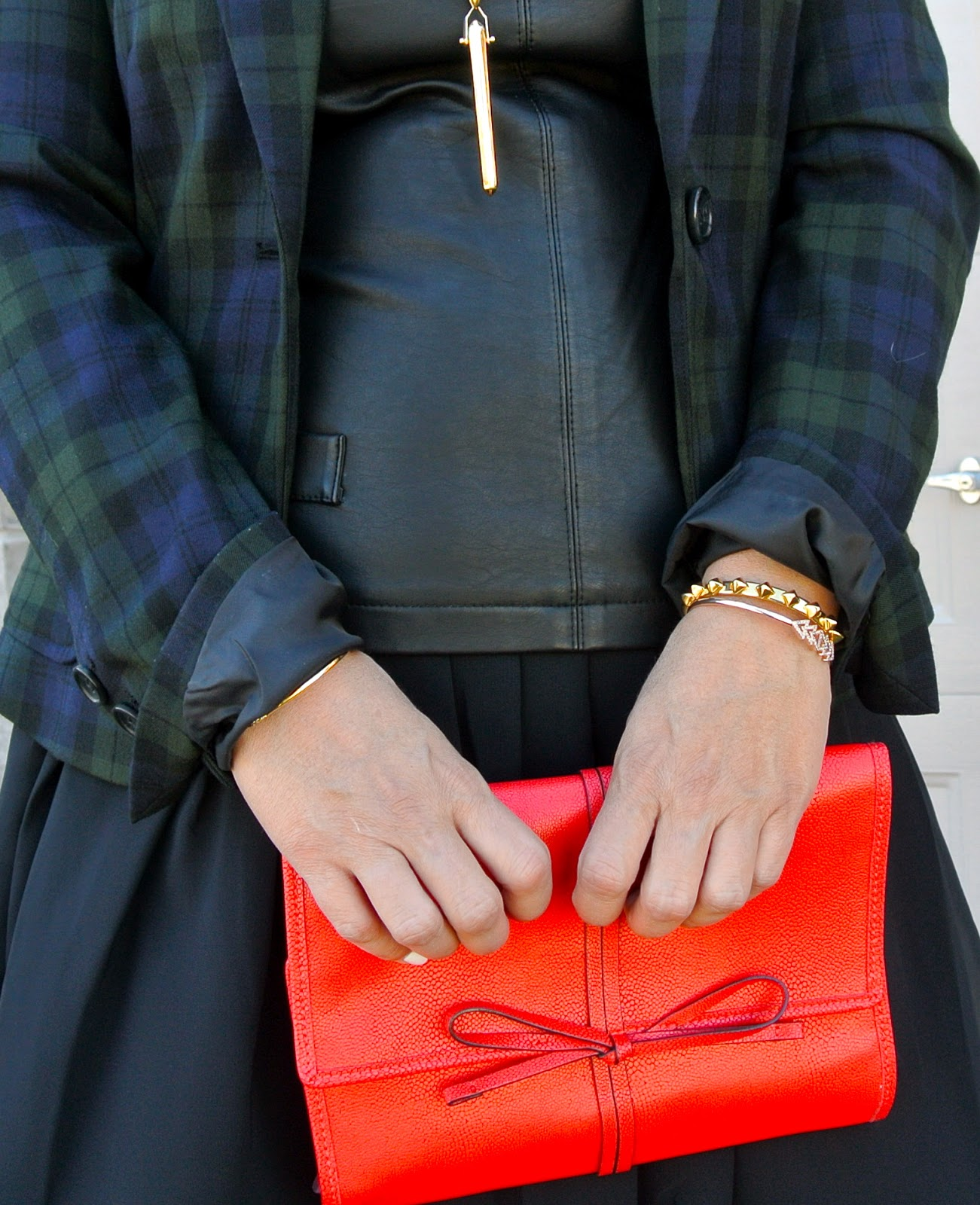 red stella and dot plaid blazer