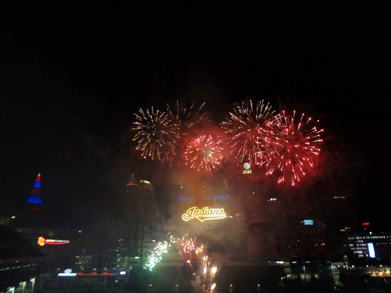 Fireworks in Progressive Field