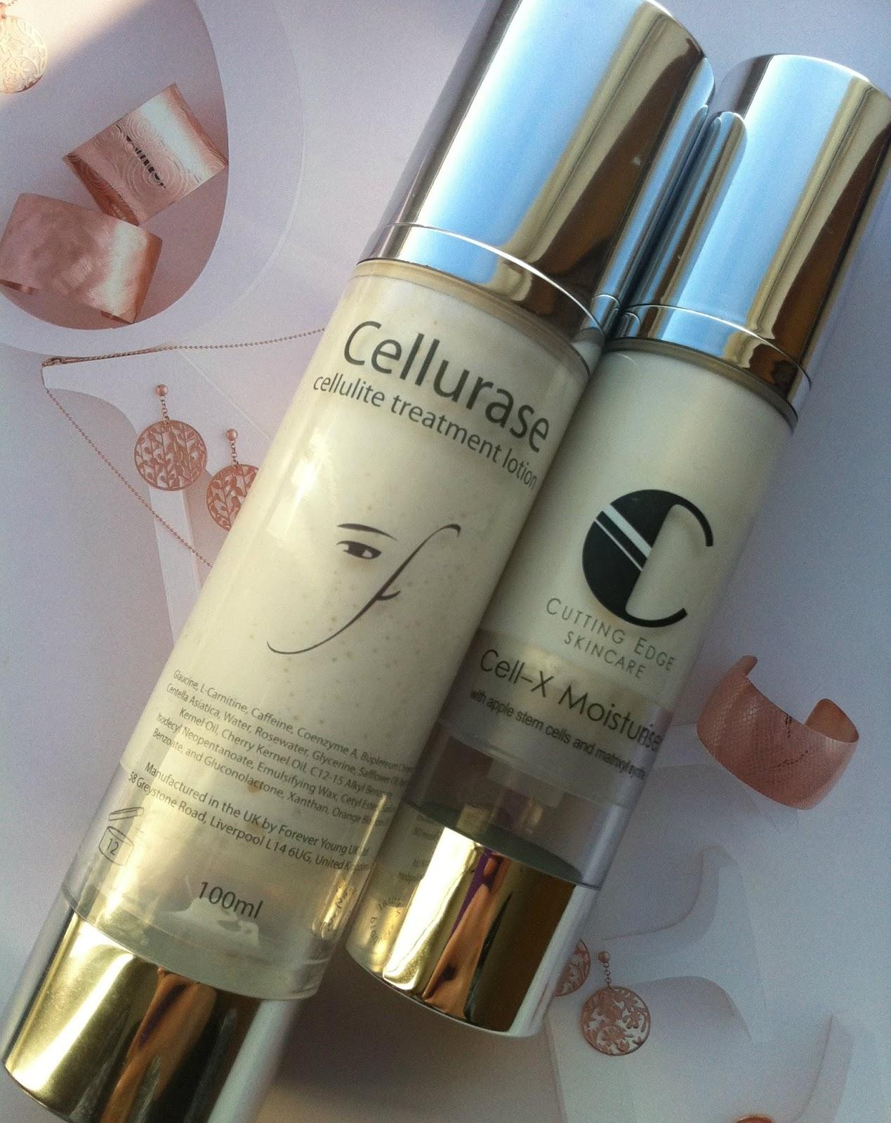 Cell - X Moisturizer oraz Cellulite treatment lotion - twarz kontra ciało.