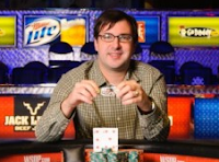 Matt Matros after winning his third WSOP bracelet in three years